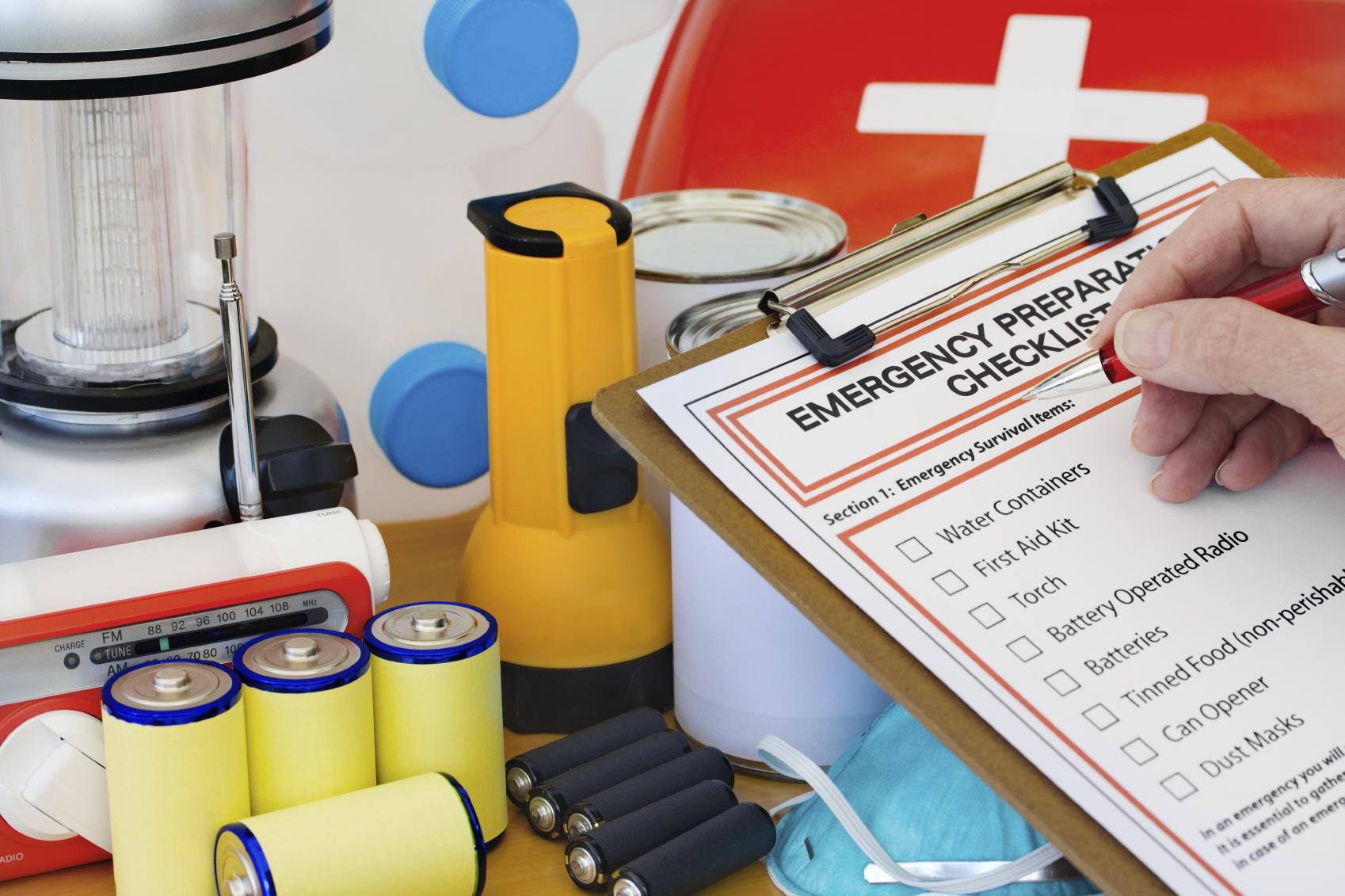 Emergency Supply Checklist kit