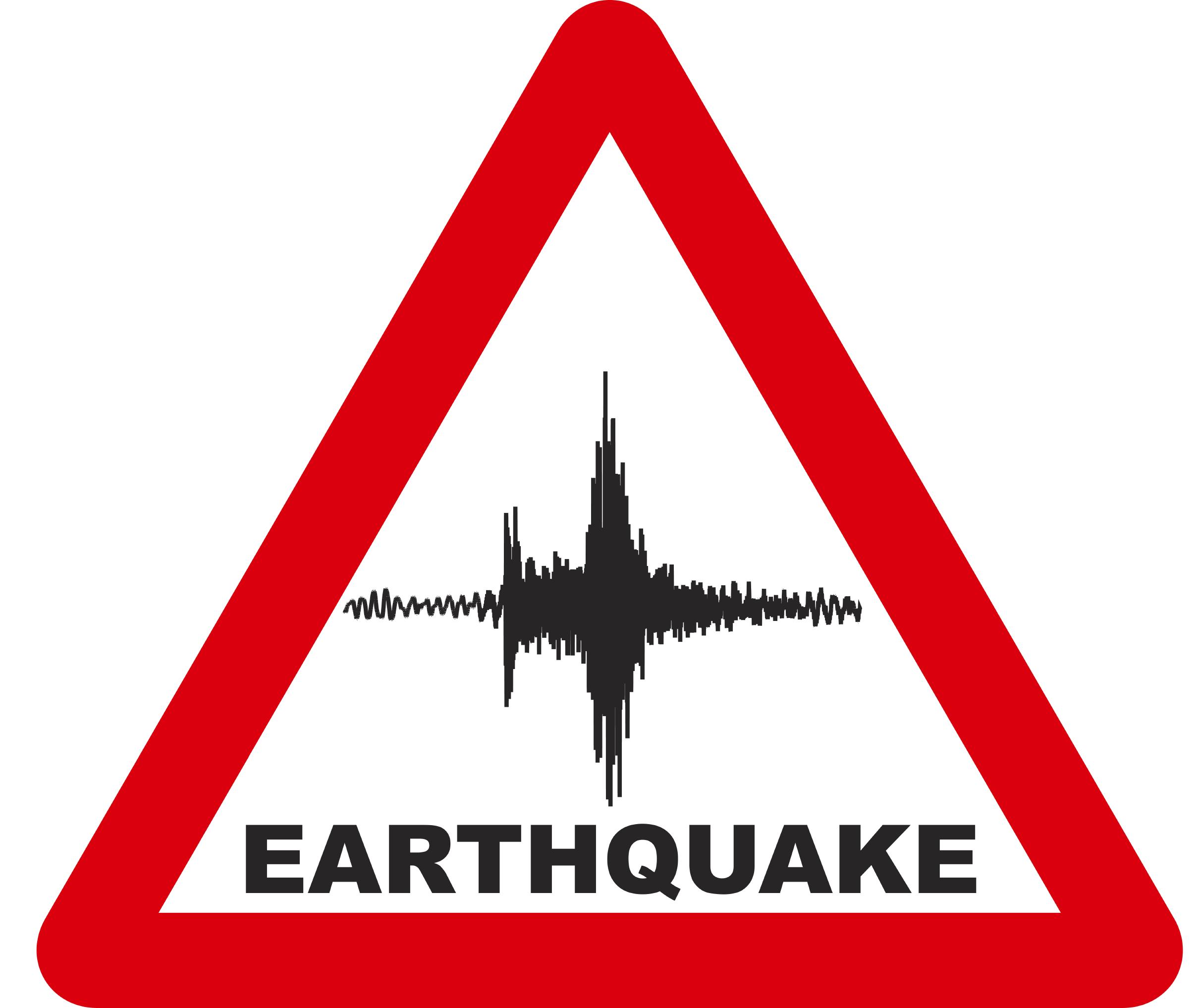 Earthquake warning sign