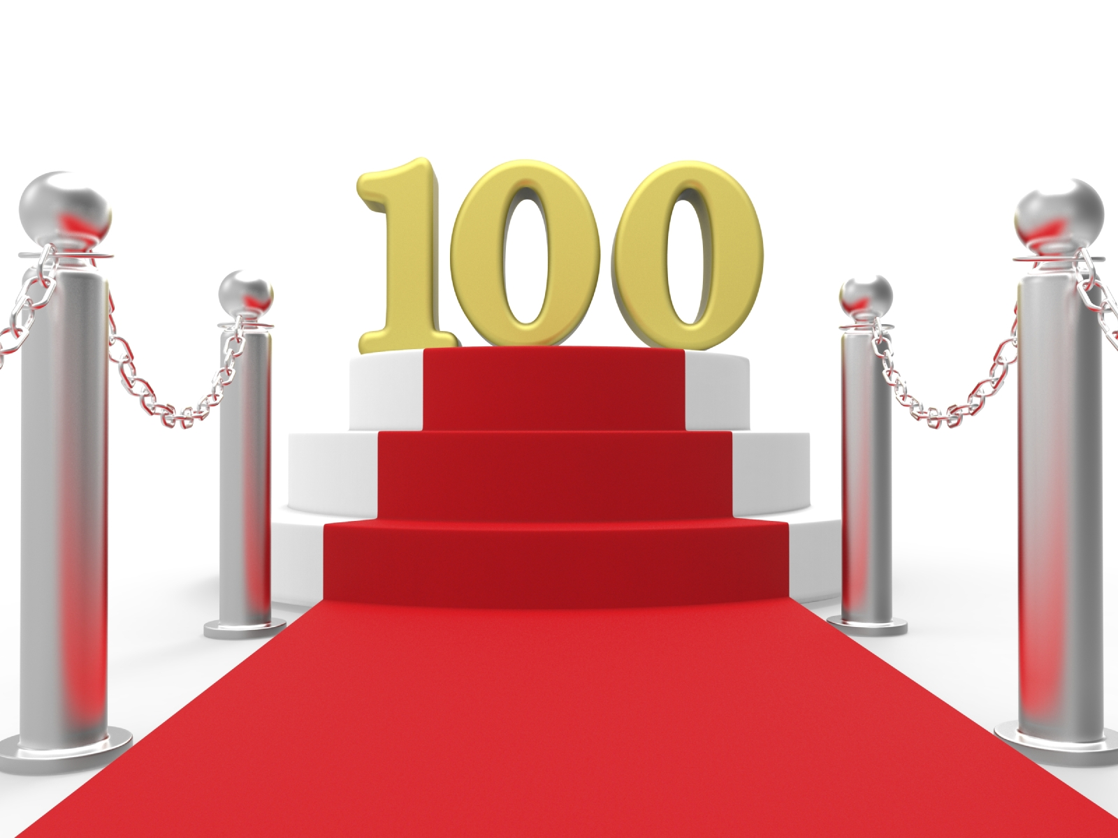 Golden One Hundred On Red Carpet Means Movie Industry Anniversar