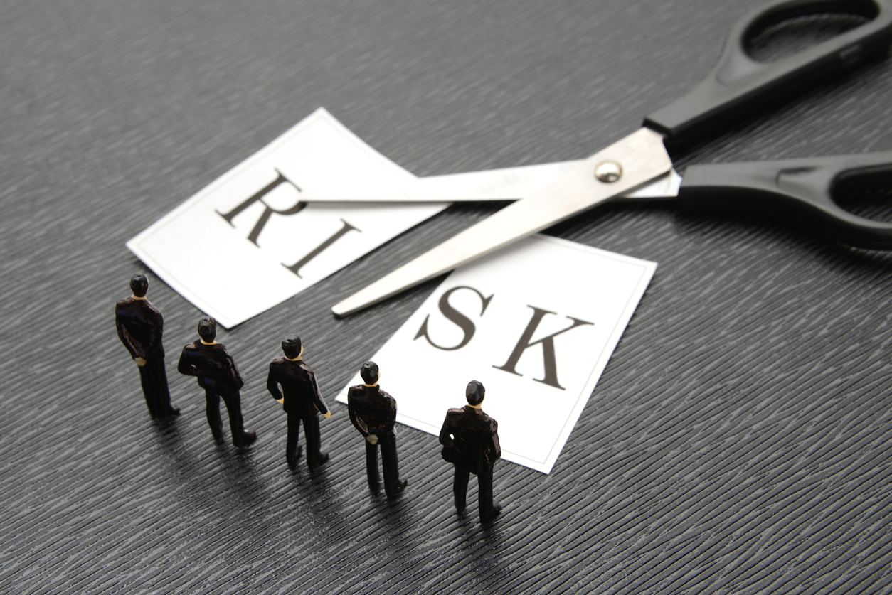 Business team thinking about risk management
